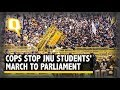 JNU Protest: Police Stop Students' March to Parliament | The Quint