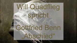 """Gottfried Benn – """"Abschied"""" (1941)"""