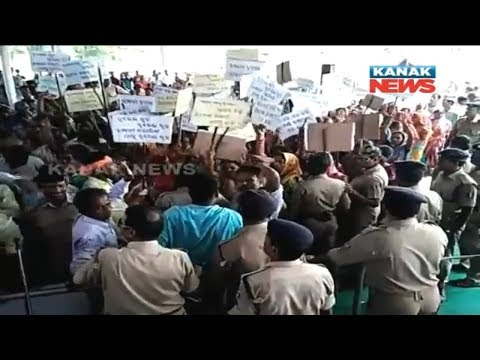 Commotion During Public Hearing of Proposed Cement Plant In Athagarh