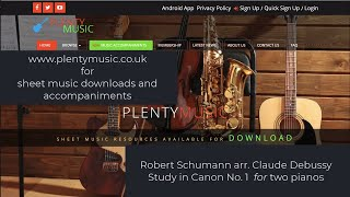 Schumann R. arr. Debussy C. | Study in Canon No. 1 for  two pianos
