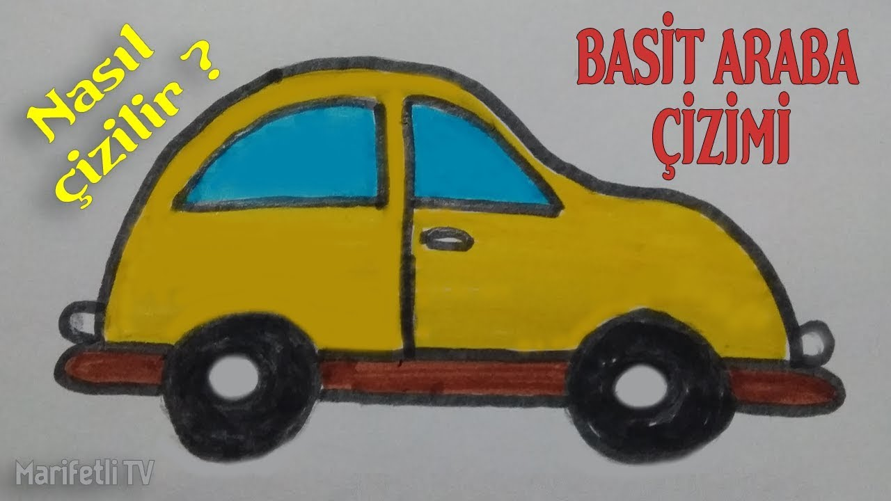 Basit Kablumbağa Araba çizimi Simple Car Drawing Youtube