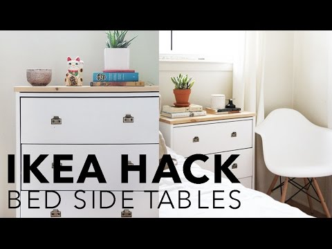 Attrayant IKEA HACK   BEDSIDE TABLES // Hannah Eleanor   YouTube