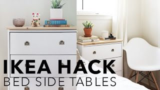 IKEA HACK - BEDSIDE TABLES // Hannah Eleanor