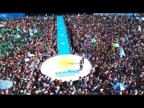 El acto de Cristina en Racing desde el drone de Portal de Noticias