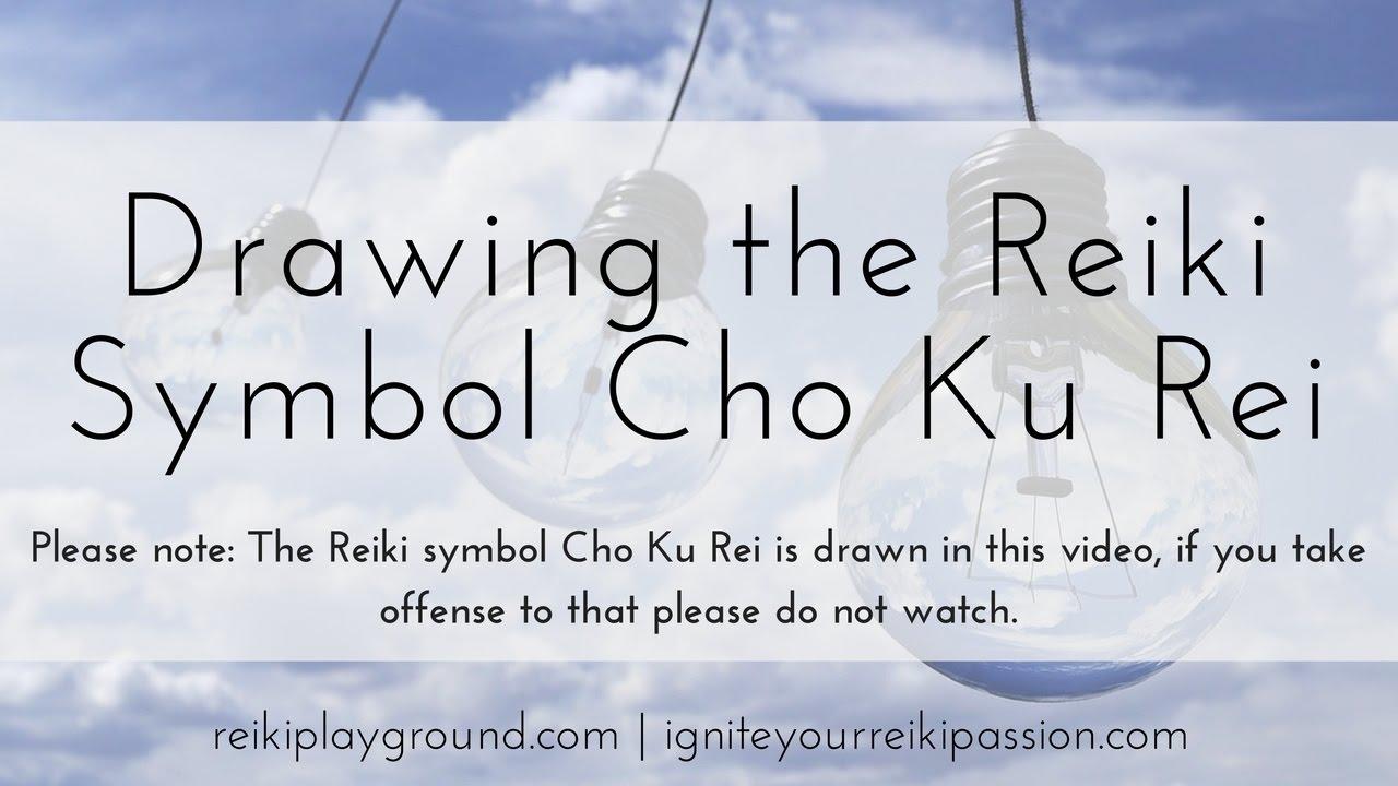 Drawing The Reik Symbol Cho Ku Rei Youtube