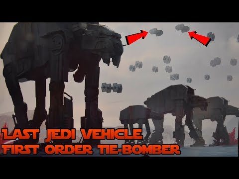 Last Jedi New Vehicle- First Order Tie-Bomber