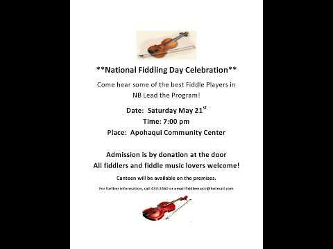 """Canada's Fiddling Day Two Step  """"Fiddle Bill"""""""