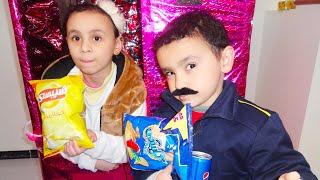 الشرطي حمودي ينقذ ماكينة الحلويات من الحرامي!!!