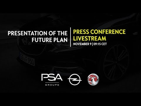 Presentation of the Opel/Vauxhall Future Plan | LIVE | Nov 9, 2017
