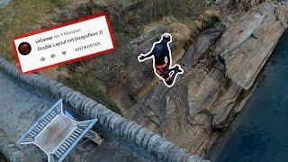 R.I.P. Hose // Trampolin auf der Brücke! // Ich mach eure Tricks! ep. 15