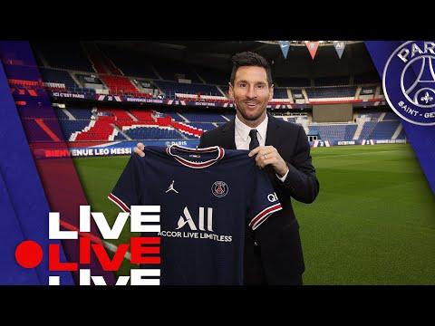⚽️ Présentation de Léo Messi en direct du Parc des Princes 🔴🔵
