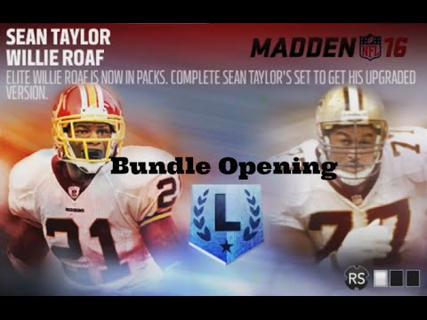 Madden 16 Legends - Sean Taylor, Willie Roaf - Bundle and Pack Opening