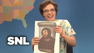 weekend update cecilia gimenez on ruining a portrait of jesus snl