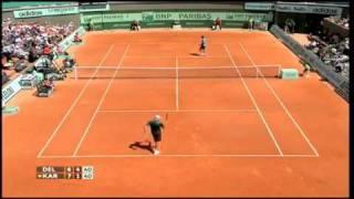 Juan Martn Del Potro vs Ivo Karlovic Roland Garros 2011
