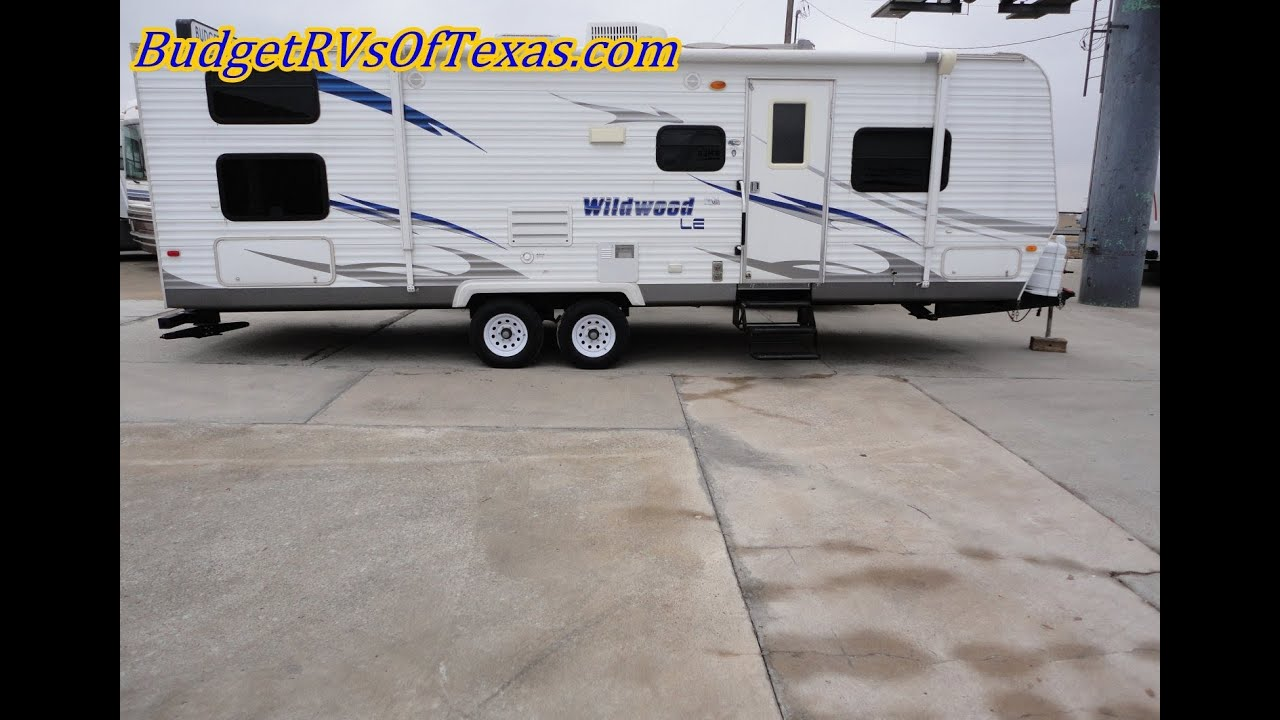 wildwood 28ddec bumper pull travel trailer used travel trailers for sale in dallas texas youtube. Black Bedroom Furniture Sets. Home Design Ideas