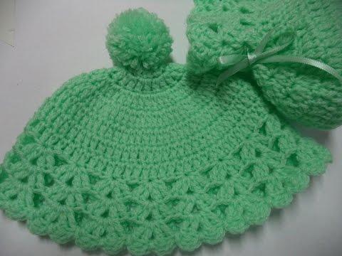 7ec009e3648a0 Como fazer - Gorro (Touca) em Crochê para Bebê - Fácil - Vídeo 35 - Graça  Tristão