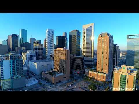 |4K| Houston Texas Skyline Drone #2