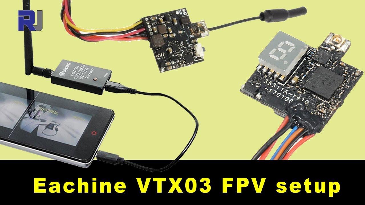 eachine vtx03 fpv transmitter wiring and setup youtube. Black Bedroom Furniture Sets. Home Design Ideas