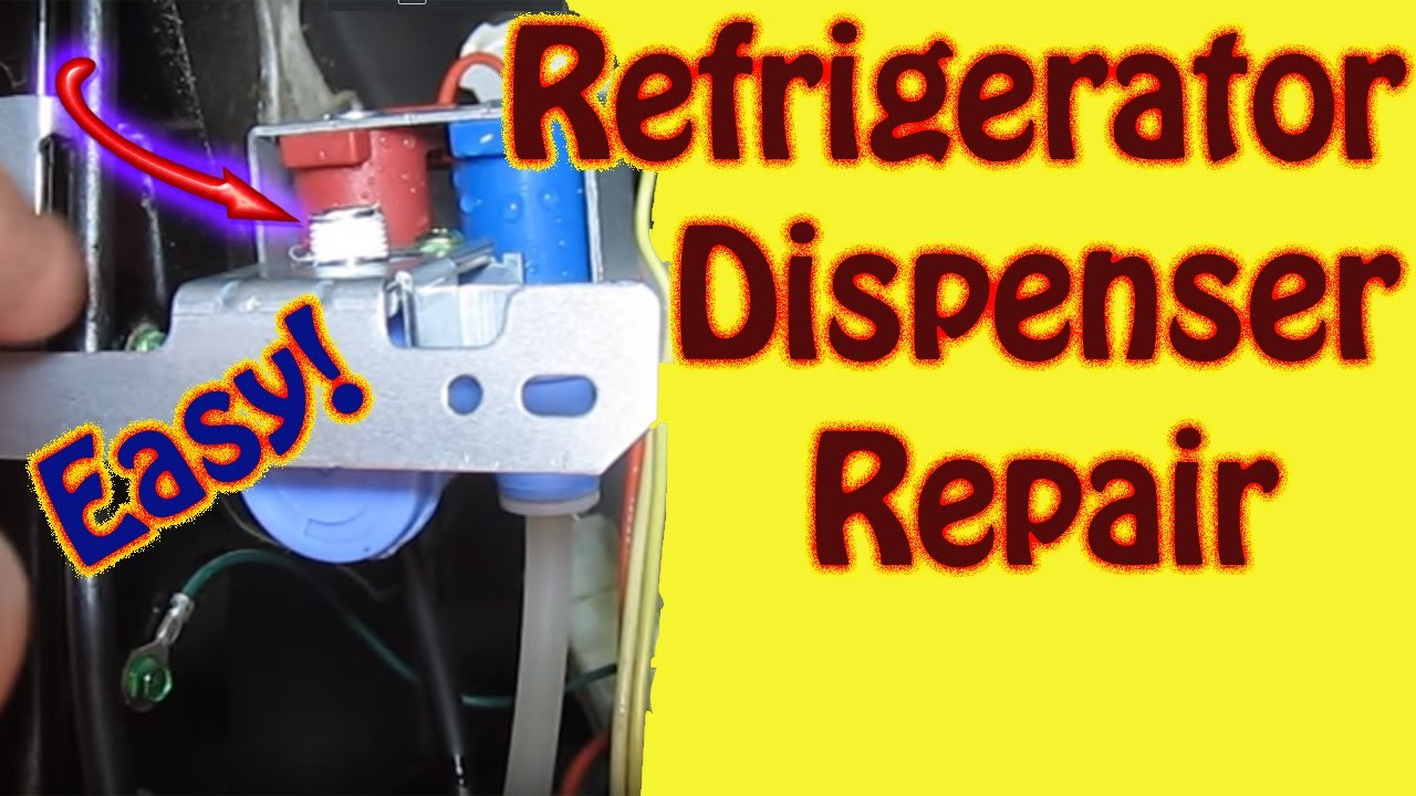small resolution of hotpoint ge refrigerator repair water inlet valve replacement leaking water dispenser youtube