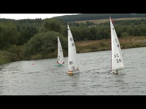 RC Sailing Boats 1m class in strong wind
