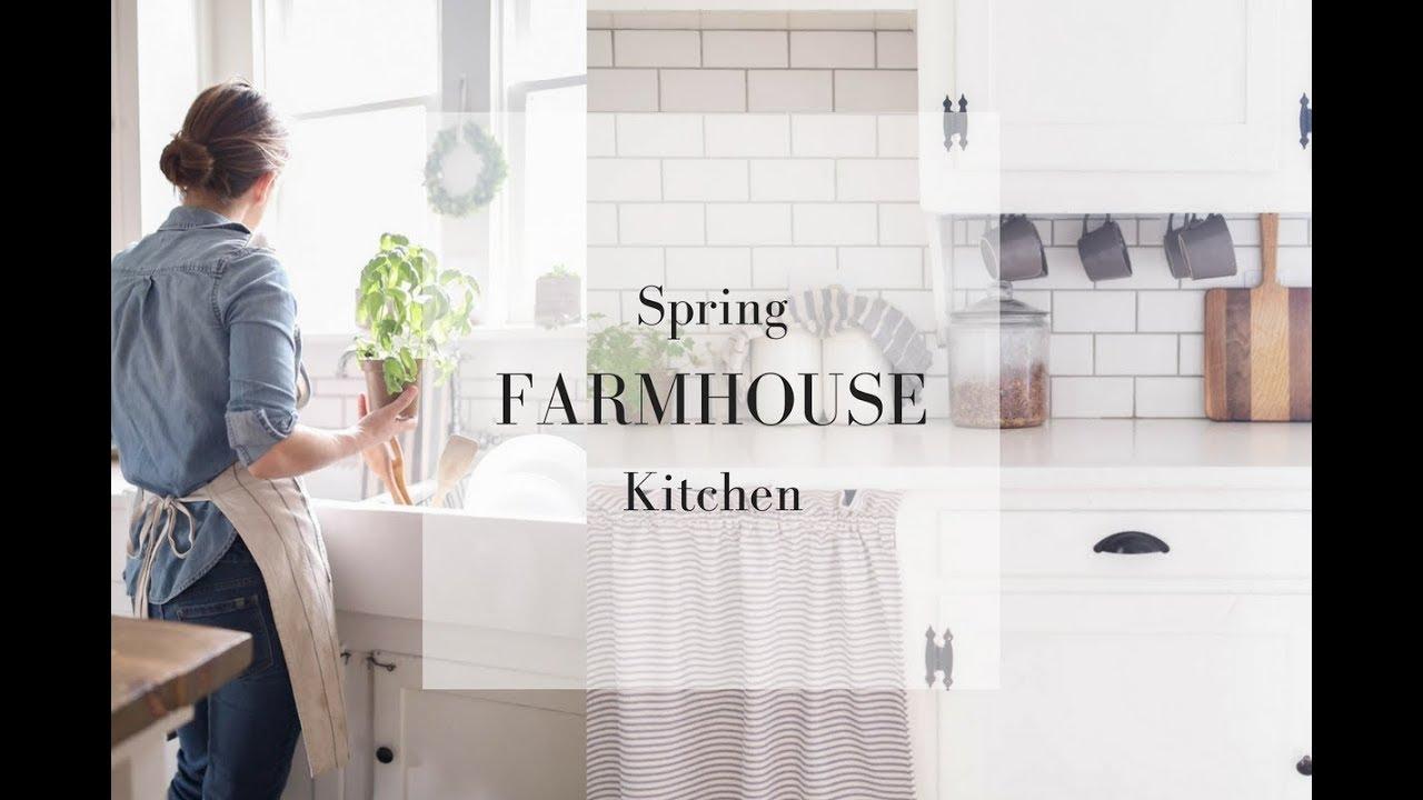 SPRING FARMHOUSE KITCHEN- Natural Decor Ideas - YouTube