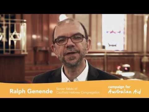 Rabbi Ralph Genende is for Australian Aid
