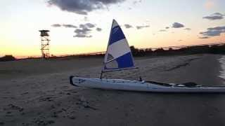Clip 4 - Day 1 of the 2014 tour of the Erie Islands Paddle Sail - Landing at Camp Perry Thumbnail