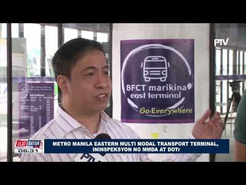 Metro Manila Eastern Multi Modal Transport Terminal, ininspeksyon ng MMDA at DOTr