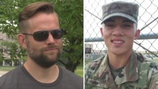 Soldier gets home for holiday when stranger pays for airfare