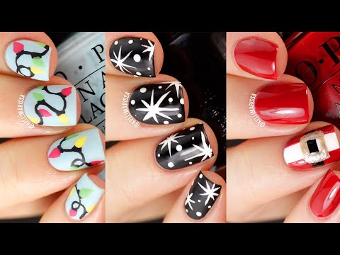 3 Holiday Nail Art Designs Tutorial  || KELLI MARISSA thumbnail