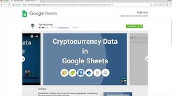 Getting cryptocurrency datasets into spreadsheets using Spreadstreet.io