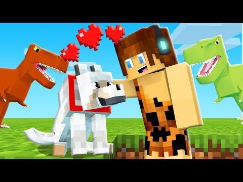NOVO LOBINHO DE ESTIMAÇÃO !! - Minecraft Dinossauros #04