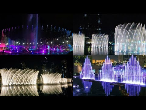 dancing fountain show in Dubai | water dancing fountain | fire dancing fountain