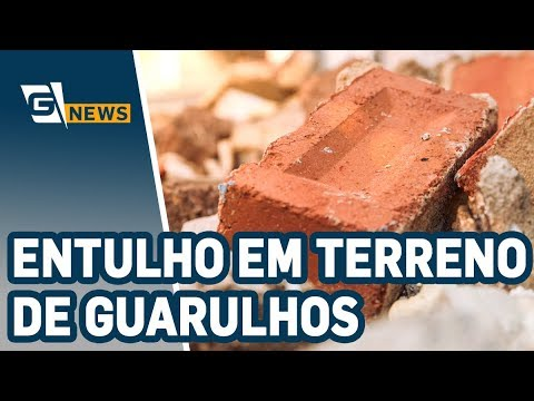 Entulho em terreno de Guarulhos