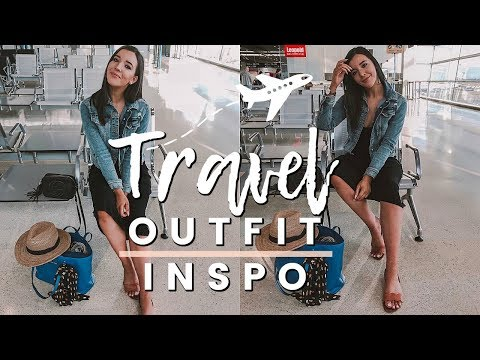 SUMMER TRAVEL OUTFIT IDEAS 2018 | HOW TO LOOK CUTE AT THE AIRPORT