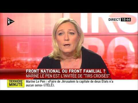 Tirs croisés Marine Le Pen   02-12-2014