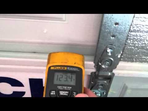 Garage door insulation. Reflective foil side facing in or o