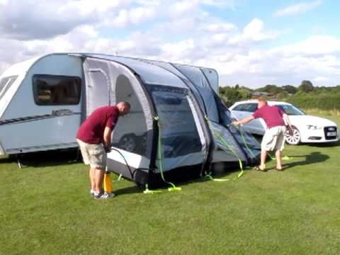 Kampa Rally Air Blow Up Awning White Arches Caravans