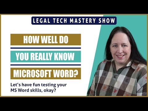 MS Word, How Well Do You Really Know It? S02E07