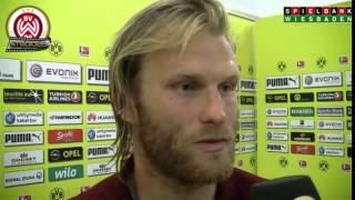 [SVWW] Nico Herzig nach dem Spiel gegen Dortmund [SV Wehen Wiesbaden]