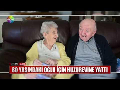 80 yaşındaki oğlu için huzurevine yattı