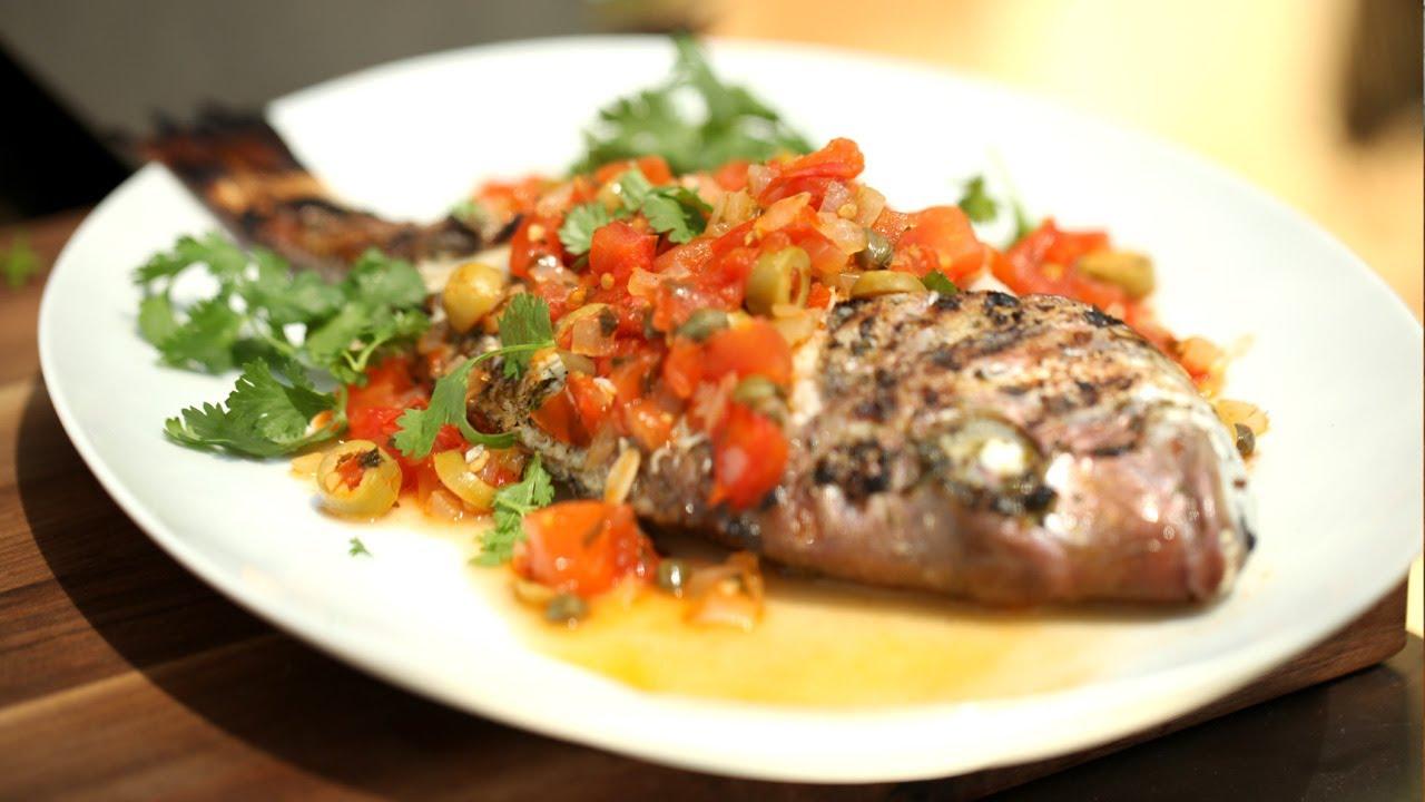 Fish Recipes Veracruz Grilled Whole I Kin Community Youtube
