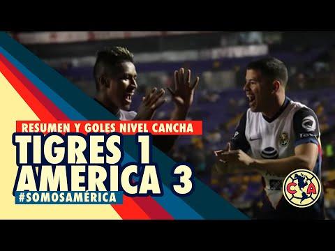 Resumen y goles a nivel de cancha Tigres 1-3 América J14 / 2021