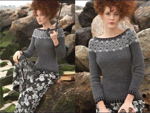 #7 Nordic Yoke Pullover, Vogue Knitting Fall 2011