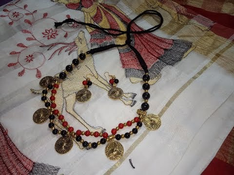 How To Make Glass Beads Necklace//Diy//Jewellery Making At Home