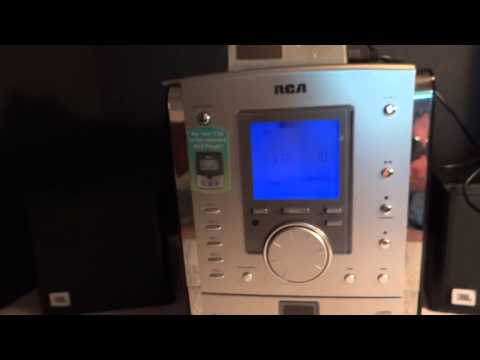 Demo RCA CD/MP3/Radio 5-Disc Changer Shelf System RS2056