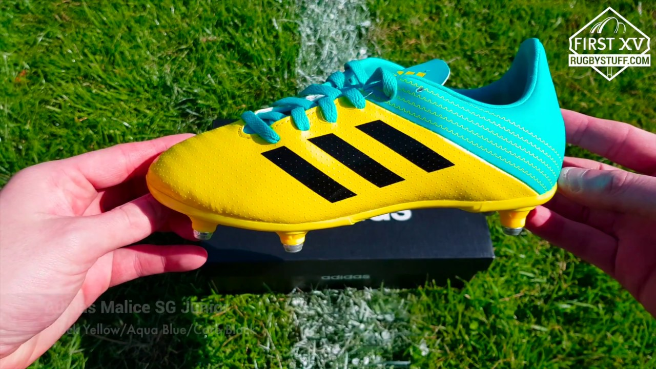 9f347a14ec30 Adidas Malice SG Junior Rugby Boots - YouTube