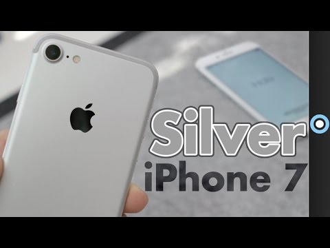 Silver IPhone 7 Unboxing & First Impressions!