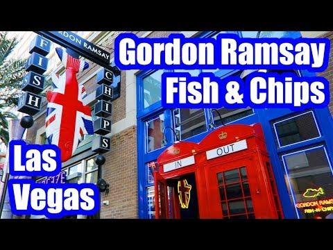 Gordon Ramsay Fish And Chips Las Vegas Review!