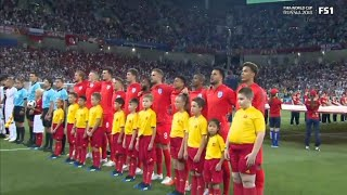 FIFA WORLD CUP 2018 : NATIONAL ANTHEM ENGLAND VS TUNISIA WORLD CUP 2018